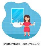 happy smiling girl kid holding...   Shutterstock .eps vector #2062987670