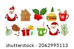 christmas vector set  new year... | Shutterstock .eps vector #2062995113