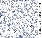 tattoo pattern seamless. tattoo ... | Shutterstock .eps vector #2063010230