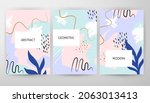 abstract floral web design....   Shutterstock .eps vector #2063013413