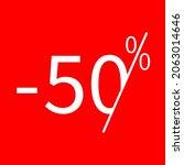 sale  50 percent colored icon....