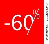 sale  60 percent colored icon....