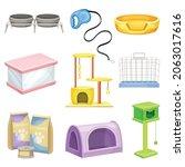 pet care set. accessories ...   Shutterstock .eps vector #2063017616