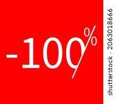 sale  100 percent colored icon. ...