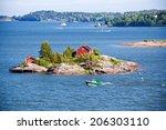 House On Island In Baltic Sea ...