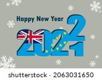 new year's card 2022. it... | Shutterstock .eps vector #2063031650