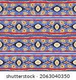ikat geometric folklore...   Shutterstock .eps vector #2063040350