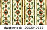 ikat geometric folklore...   Shutterstock .eps vector #2063040386