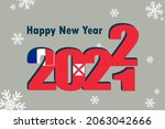 new year's card 2022. it... | Shutterstock .eps vector #2063042666