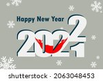new year's card 2022. it... | Shutterstock .eps vector #2063048453