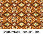 ikat geometric folklore...   Shutterstock .eps vector #2063048486