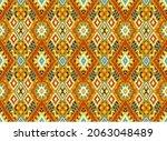 ikat geometric folklore...   Shutterstock .eps vector #2063048489