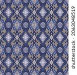 ikat geometric folklore...   Shutterstock .eps vector #2063048519