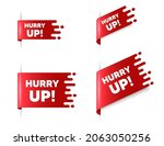 hurry up sale. red ribbon tag... | Shutterstock .eps vector #2063050256