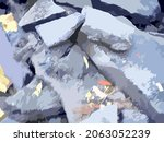stone structure in gray blue...   Shutterstock .eps vector #2063052239