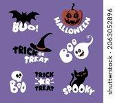 set of isolated ghost halloween ... | Shutterstock .eps vector #2063052896