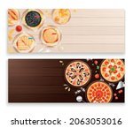 two isolated horizontal banners ... | Shutterstock .eps vector #2063053016