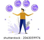 delivery in 12  24  48 and 72... | Shutterstock .eps vector #2063059976