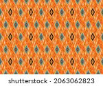 ikat border. geometric folk...   Shutterstock .eps vector #2063062823
