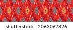 ikat border. geometric folk...   Shutterstock .eps vector #2063062826