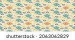 ikat border. geometric folk...   Shutterstock .eps vector #2063062829