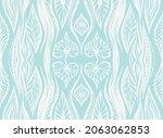 ikat border. geometric folk...   Shutterstock .eps vector #2063062853