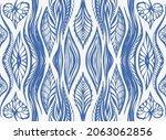 ikat border. geometric folk...   Shutterstock .eps vector #2063062856