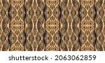 ikat border. geometric folk...   Shutterstock .eps vector #2063062859