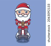 cute cartoon santa claus style... | Shutterstock .eps vector #2063092133