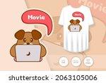 cute dog cartoon character.... | Shutterstock .eps vector #2063105006