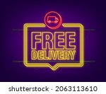 free shipping. neon icon. badge ... | Shutterstock .eps vector #2063113610