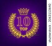 top 10   top ten gold with blue ... | Shutterstock .eps vector #2063113640