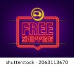 free shipping. neon icon. badge ... | Shutterstock .eps vector #2063113670