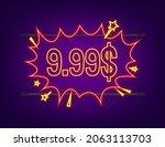 9 99 dollars discount labels.... | Shutterstock .eps vector #2063113703