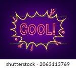 comic speech bubbles with text... | Shutterstock .eps vector #2063113769