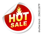 isolated on white hot sale... | Shutterstock . vector #206311879