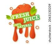 juice fresh fruit label icon.... | Shutterstock .eps vector #2063130209