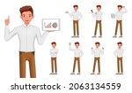 set of 3d vector businessman...   Shutterstock .eps vector #2063134559