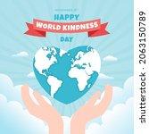 happy world kindness day...   Shutterstock .eps vector #2063150789