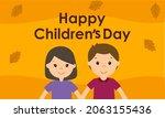 hand drawn flat world children...   Shutterstock .eps vector #2063155436