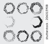 grunge shapes  | Shutterstock .eps vector #206315908