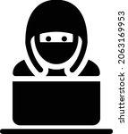 hacking vector glyph flat icon   Shutterstock .eps vector #2063169953