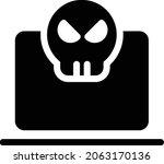 laptop vector glyph flat icon   Shutterstock .eps vector #2063170136