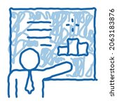 man presentation sketch icon...   Shutterstock .eps vector #2063183876