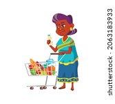 indian granny putting milk...   Shutterstock .eps vector #2063183933