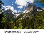 Mountain Peaks In The Cascade...