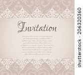 vector baroque damask luxury... | Shutterstock .eps vector #206320360