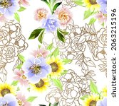 abstract elegance seamless... | Shutterstock .eps vector #2063215196