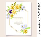 invitation greeting card with... | Shutterstock .eps vector #2063215700