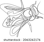 one single line drawing of cute ... | Shutterstock .eps vector #2063262176